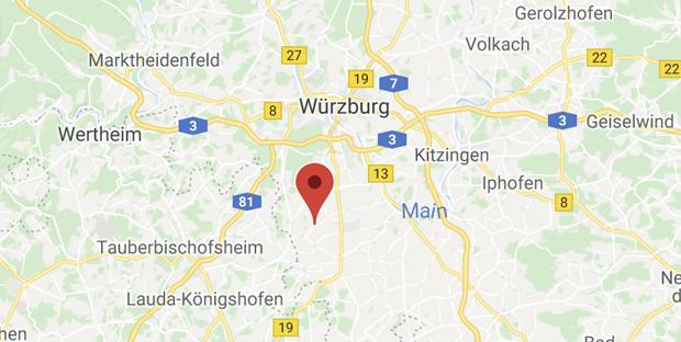 Map Wuerzburg Umgebung